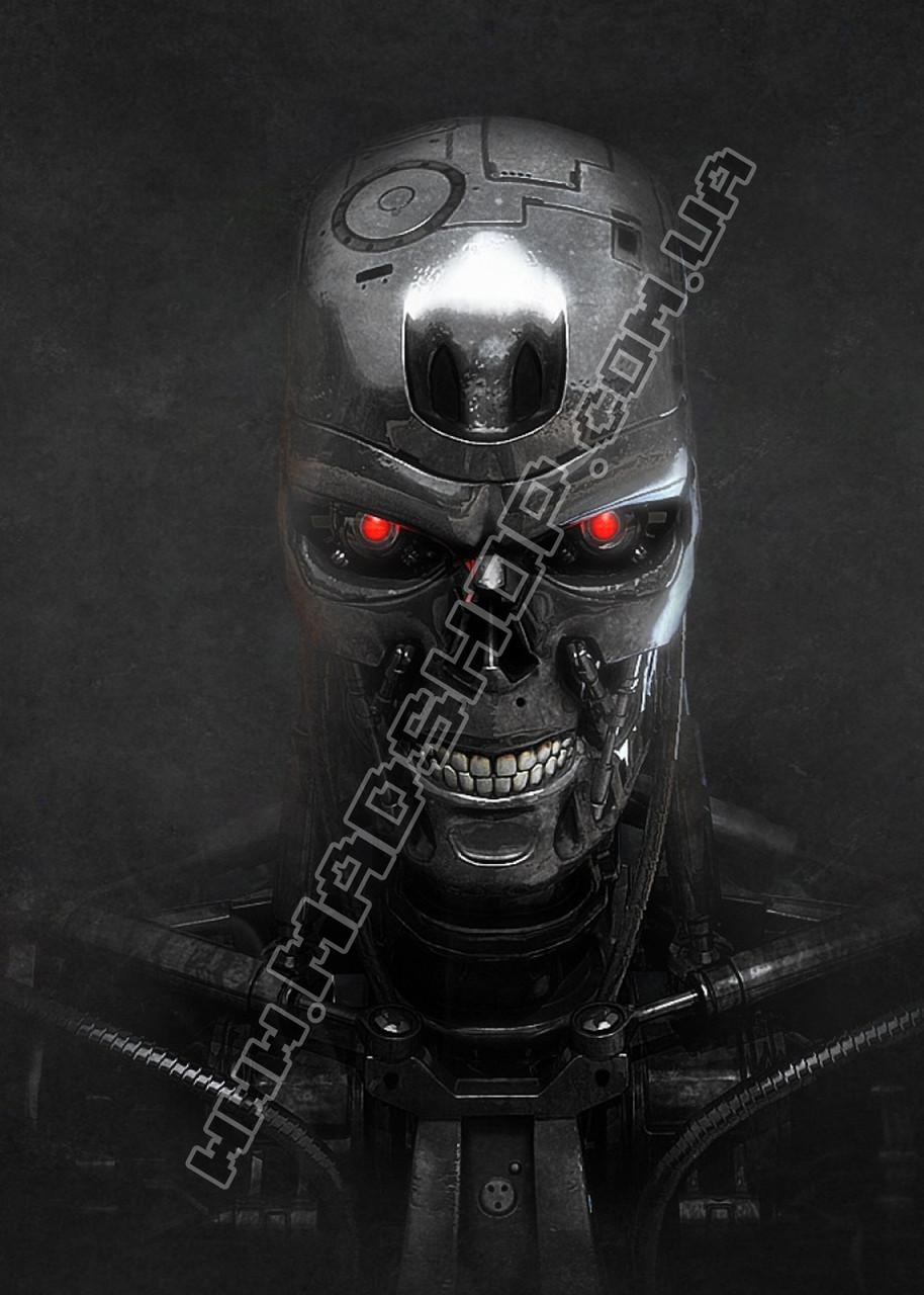 Картина 40х60 см Терминатор Робот