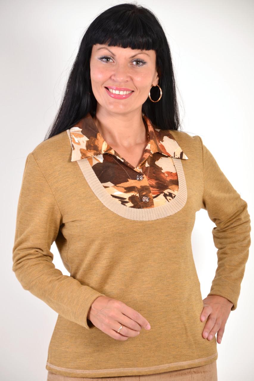 Блуза двойка теплая с начесом баечкой внутри( БЛ 509510)