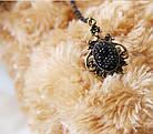 Браслет мереживо готичний чорний з кільцем, фото 7