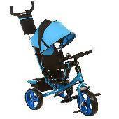 Трехколесный детский велосипед TURBO TRIKE M 3113-5 синий  колеса EVA