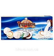 Конфеты кокосовые Papagena (Папагена вафельные шарики в кокосе с кремом внутри) Австрия 120г, фото 1