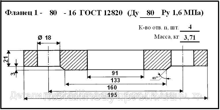 Фланец ст.09г2с ГОСТ 12820-80 2-80-6