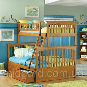 """Трансформер Двухъярусная трехспальная кровать семейного типа """"Жасмин """"с ящиками и бортиками, фото 2"""