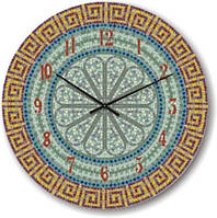 """Часы настенные """"Орнамент из мозайки"""" (350мм) [Стекло, Открытые]"""