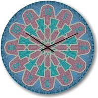 """Часы настенные """"Мозаичный узор"""" (300мм) [Стекло, Открытые]"""