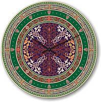 """Большие настенные часы """"Разнообразие орнаментов"""" (450мм) [Стекло, Открытые]"""
