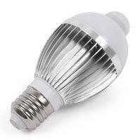 Светодиодная лампа c ИК датчиком движения 5 Вт (холодный белый, 450 лм, Е27), Харьков