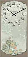 """Настенные часы в стиле прованс """"Прованс - Цветы полевые"""" (225х450мм) [Стекло, Открытые]"""