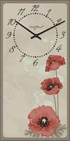"""Часы настенные """"Прованс - Маки"""" (225х450мм) [Стекло, Открытые]"""