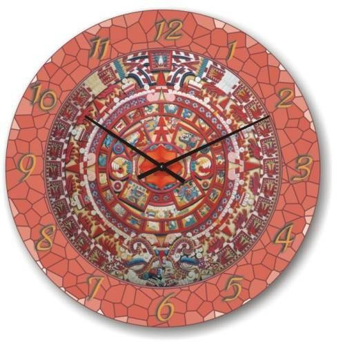 """Часы настенные """"Розовая мозайка"""" (300мм) [Стекло, Открытые]"""