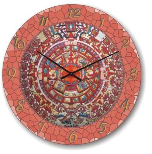 """Большие настенные часы """"Розовая мозайка"""" (450мм) [Стекло, Открытые]"""