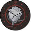 """Часы настенные """"Роза белая"""" (300мм) [Стекло, Открытые]"""