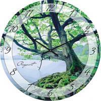 """Часы настенные """"Дерево над водой"""" (300мм) [Стекло, Открытые]"""