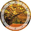 """Часы настенные """"Золотая осень"""" (300мм) [Стекло, Открытые]"""