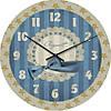 """Большие настенные часы """"Голубой бант"""" (450мм) [Стекло, Открытые]"""