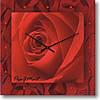 """Большие настенные часы """"Роза алая"""" (450мм) [Стекло, Открытые]"""