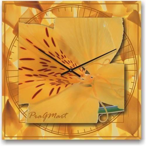 """Большие настенные часы """"Тигровая лилия"""" (450мм) [Стекло, Открытые]"""