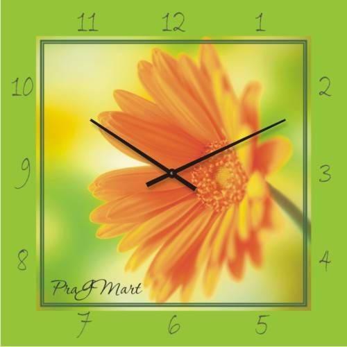 """Большие настенные часы """"Гербера"""" (450мм) [Стекло, Открытые]"""