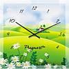 """Часы настенные """"Домик среди полей """" (300мм) [Стекло, Открытые]"""