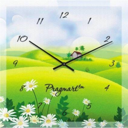 """Часы настенные """"Домик среди полей """" (450мм) [Стекло, Открытые]"""