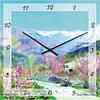 """Часы настенные """"Славянская весна"""" (450мм) [Стекло, Открытые]"""