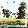 """Часы настенные """"Дорога в поле"""" (450мм) [Стекло, Открытые]"""