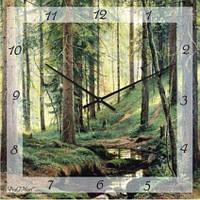 """Часы настенные """"Сосновый бор"""" (350мм) [Стекло, Открытые]"""
