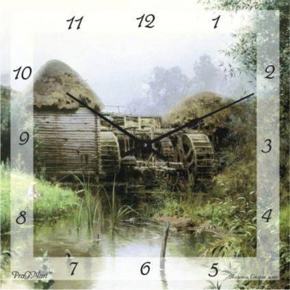 """Часы настенные """"Мельница"""" (450мм) [Стекло, Открытые]"""