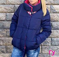 Женская модная куртка с брошью (расцветки)