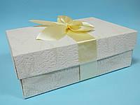 Индивидуальная коробка для свадебных бокалов с декором