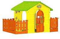 Домик детский с забором Mochtoys 11105