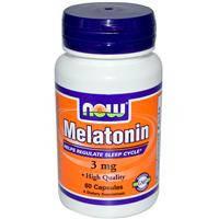 Melatonin, 3 мг, при нарушениях сна,60 капсул