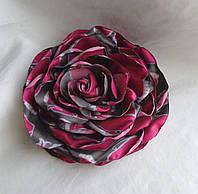 """Брошь-роза из ткани ручной работы """"Слоники"""""""
