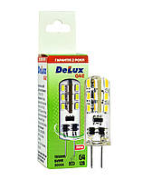 Светодиодная лампа DELUX G4E 1,5 Вт 3000K 12В G4
