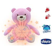 Ночник Мишка плюшевый с проектором Chicco First Dream 801510