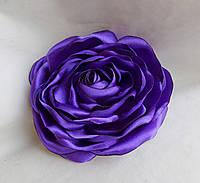 """Брошь из ткани ручной работы """"Фиолетовая роза"""""""