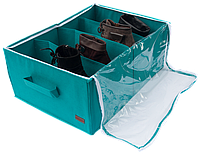 Органайзер для обуви на 4 секции Лазурь
