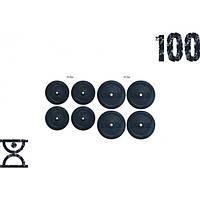 Набор блинов 100кг (4х10 и 4х15) на гриф 25.30.50 мм