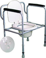 Стул-туалет складной регулируемый по высоте Норма-Трейд НТ-04-006