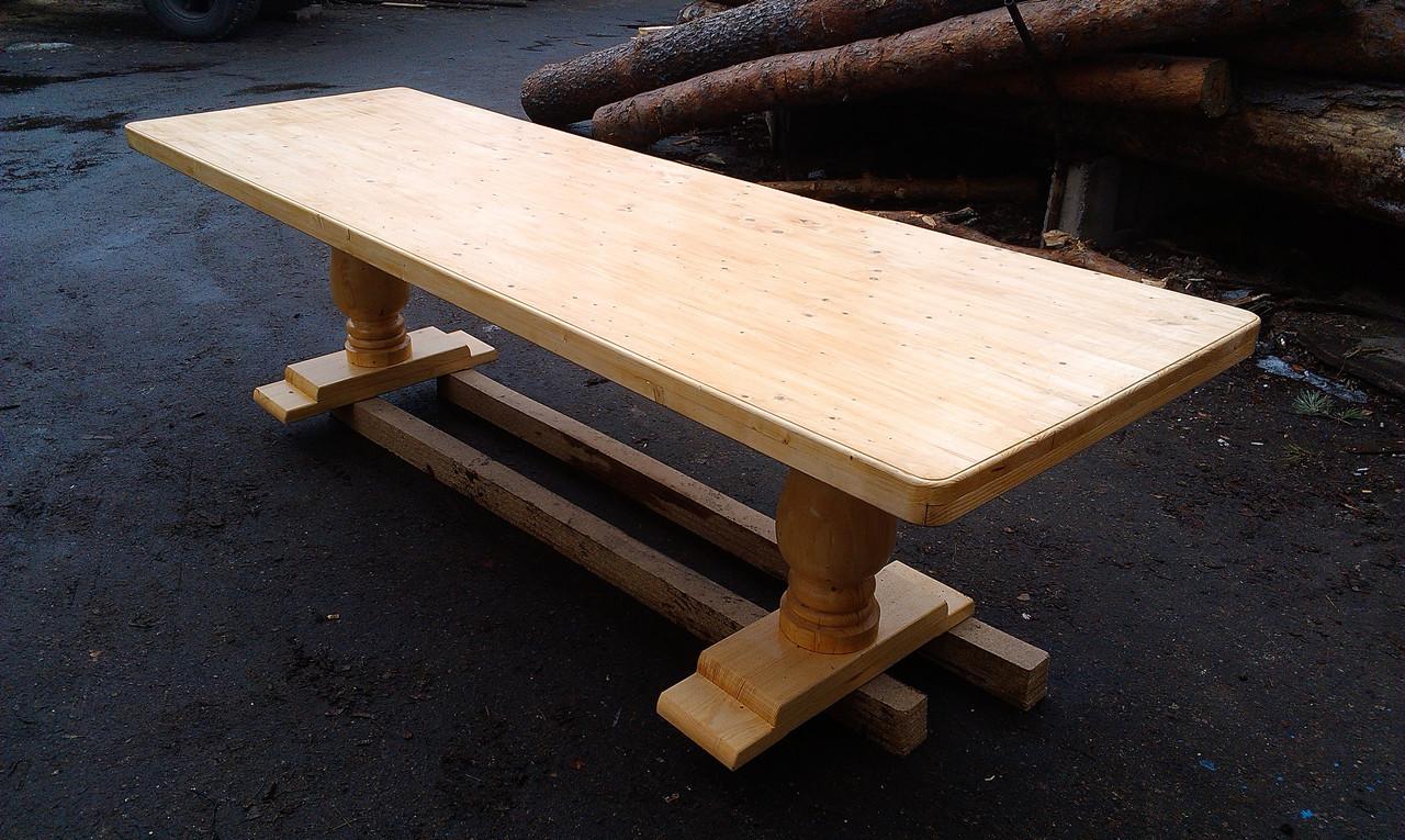 Стол из дерева для дачи ,сада и беседки
