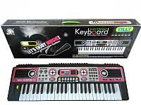 Детский пианино синтезатор MQ-019 FM с радио, 49 клавиш. Микрофон и работа от сети
