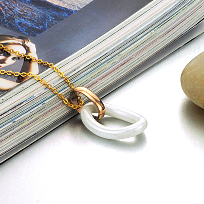Женская подвеска с позолотой и керамикой, цепочка 44 см