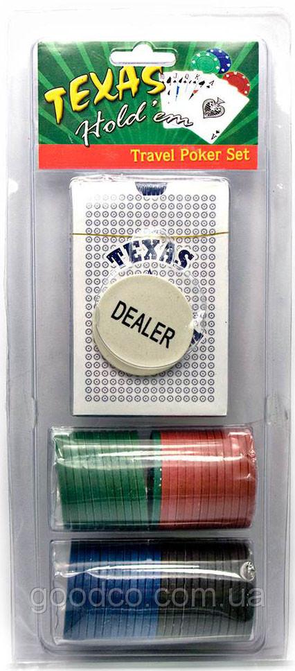 Покерный набор в блистере (колода карт + 48 фишек)