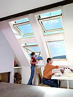 Мансардное окно Roto Designo R7 - с поднятой осью поворота створки