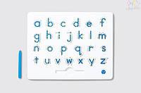 Магнитная доска для изучения английских  маленьких прописных букв от А до Z, 3+ KID O  цвет голубой