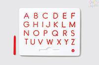 Магнитная доска для изучения крупных английских  печатных букв от А до Z, 3+ KID O цвет красный