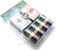 Покерный набор (2 колоды карт, сукно, 100 фишек)