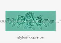 Силіконовий молд - Гілка з троянд - 11х4,5 см