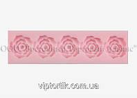 Силиконовый молд - Лента розы 5 шт. - 2,5 см