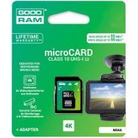 Карта памяти GOODRAM microSDXC 64GB UHS I MLC U3 + ad (R95, W90MB/s) // 6301615